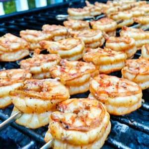lemon and spice grilled shrimp