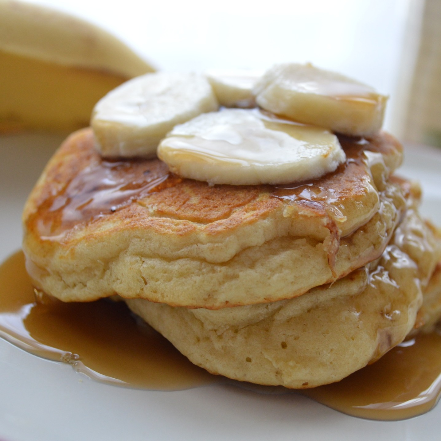 Banana Buttermilk Pancakes Recipe — Dishmaps