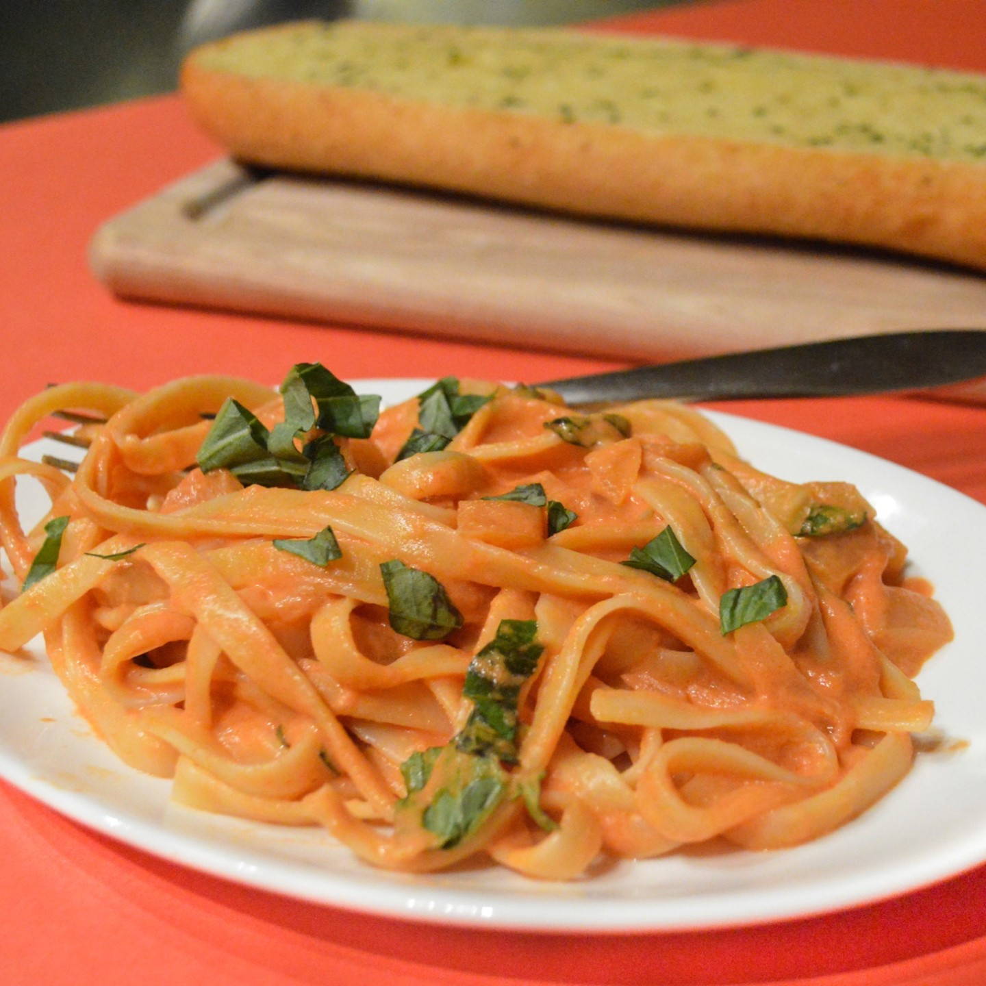 Pasta with Creamy Tomato Sauce - The Lemon Press