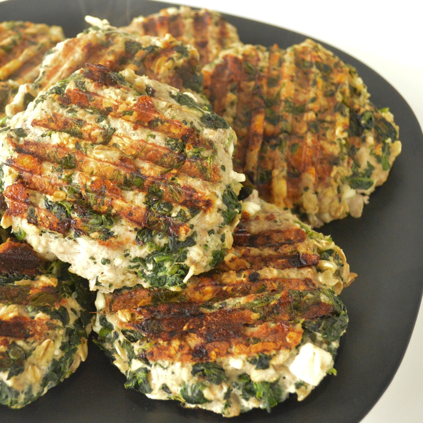 spinach-feta-turkey-burgers - The Lemon Press