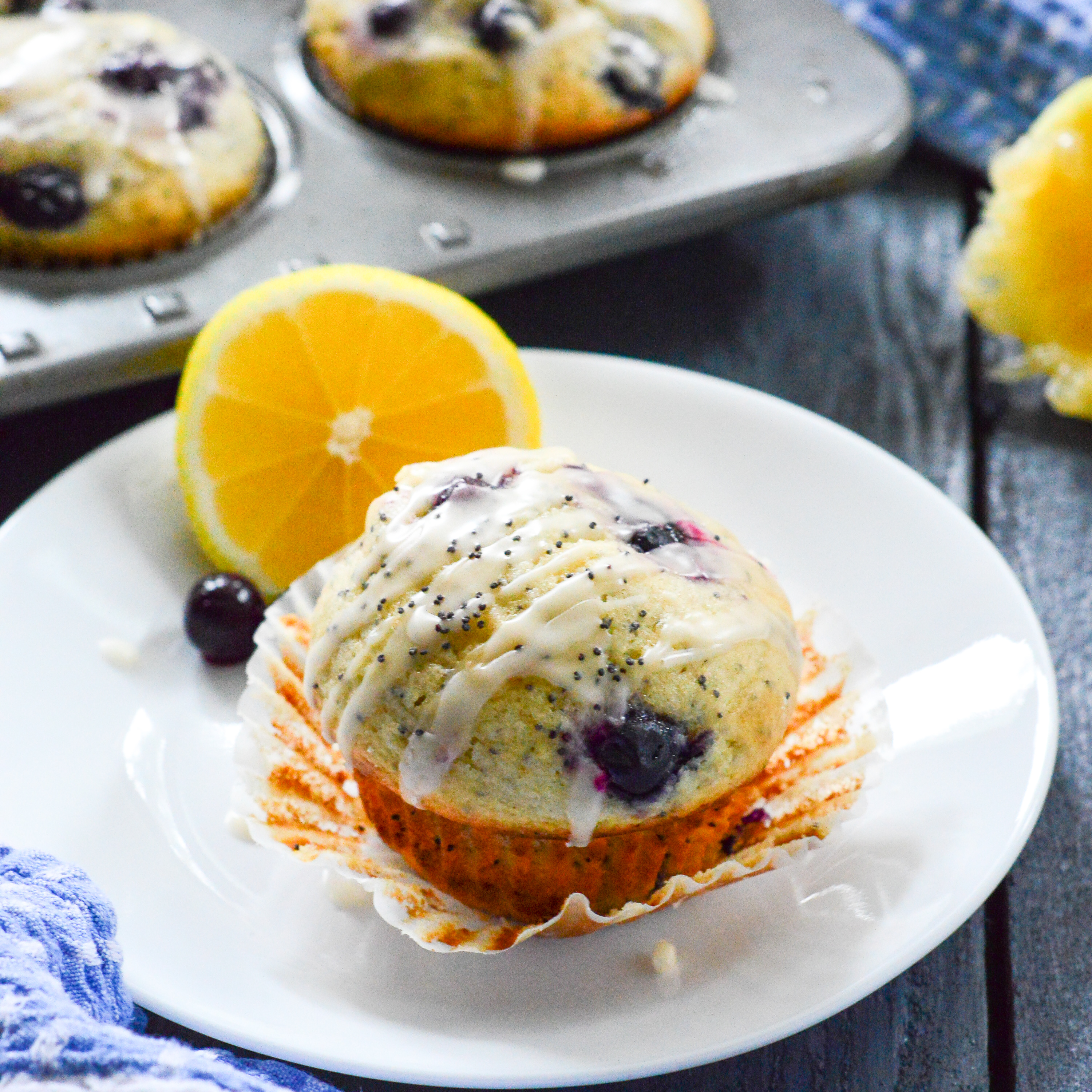 poppy seed muffins with lemon glaze these blueberry poppy seed muffins ...