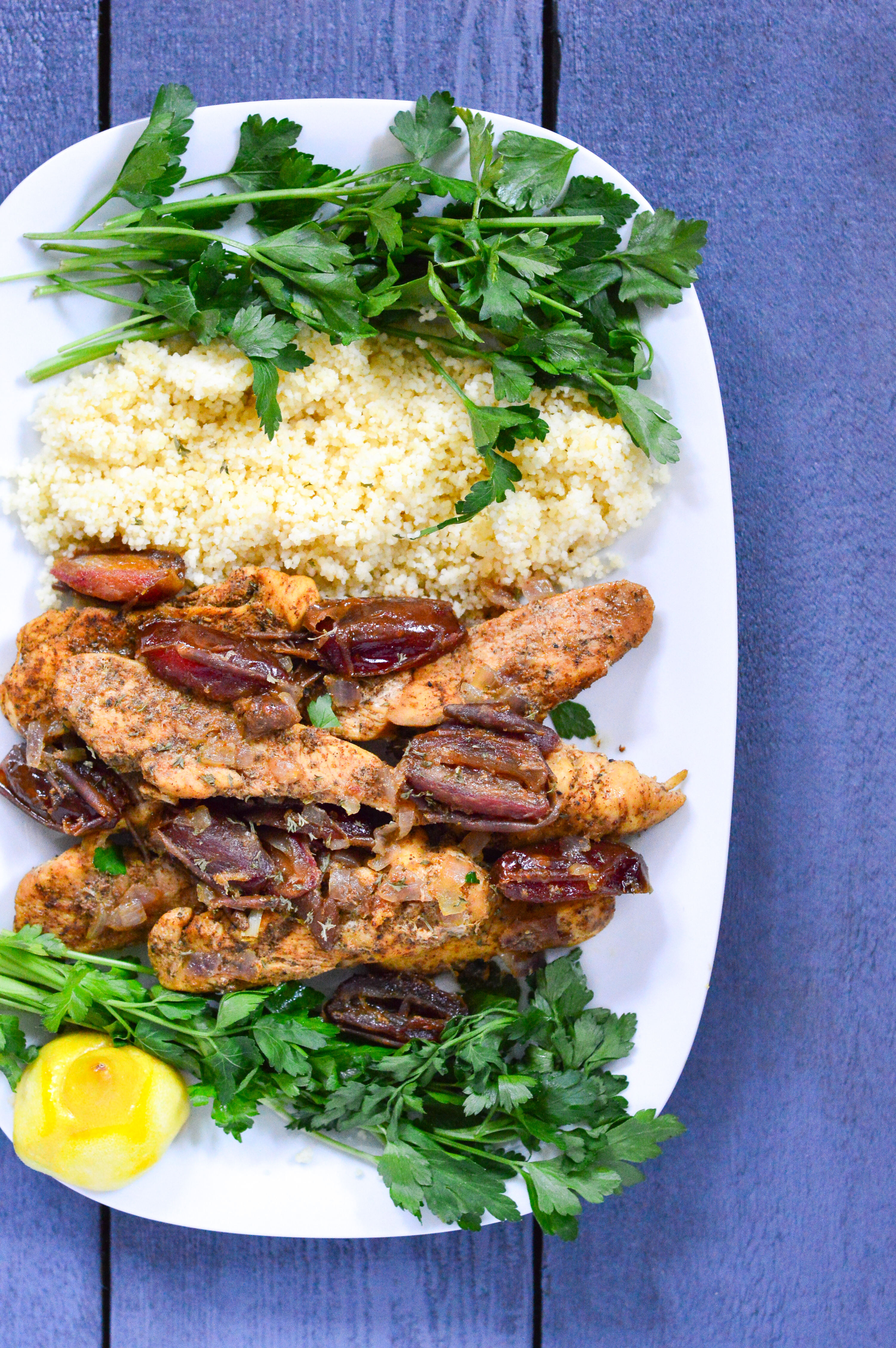 moroccan chicken with lemons and dates