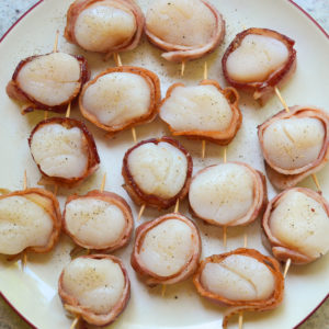 Bacon Wrapped Scallops-7