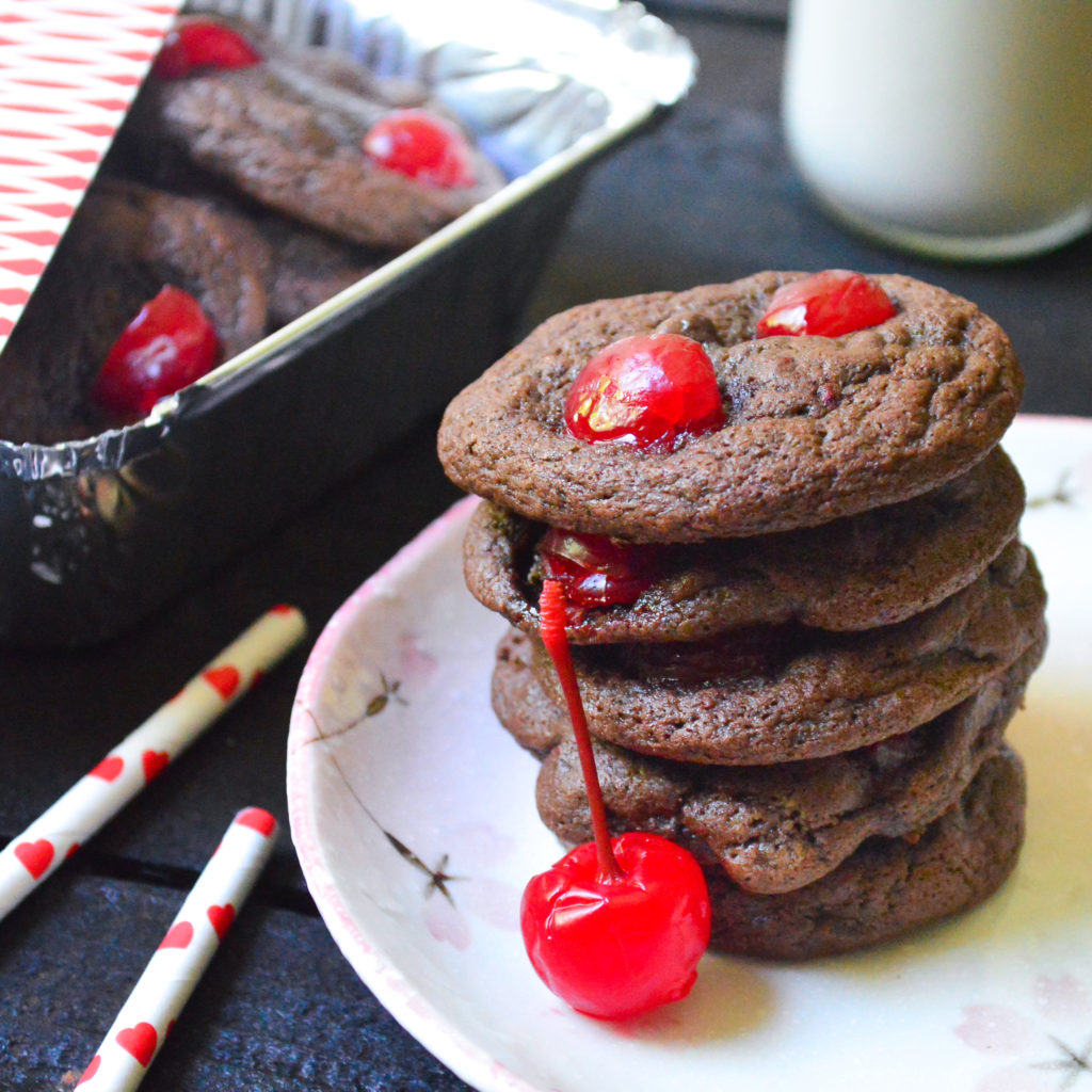 fudgy chocolate cherry cookies-12