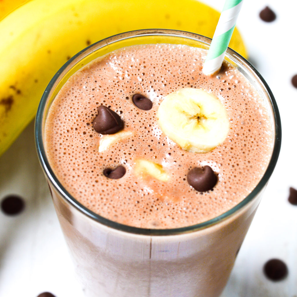 chocolate peanut butter banana shake-7
