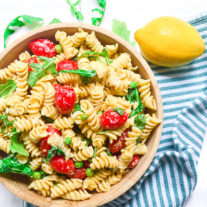 lemon pasta salad-9