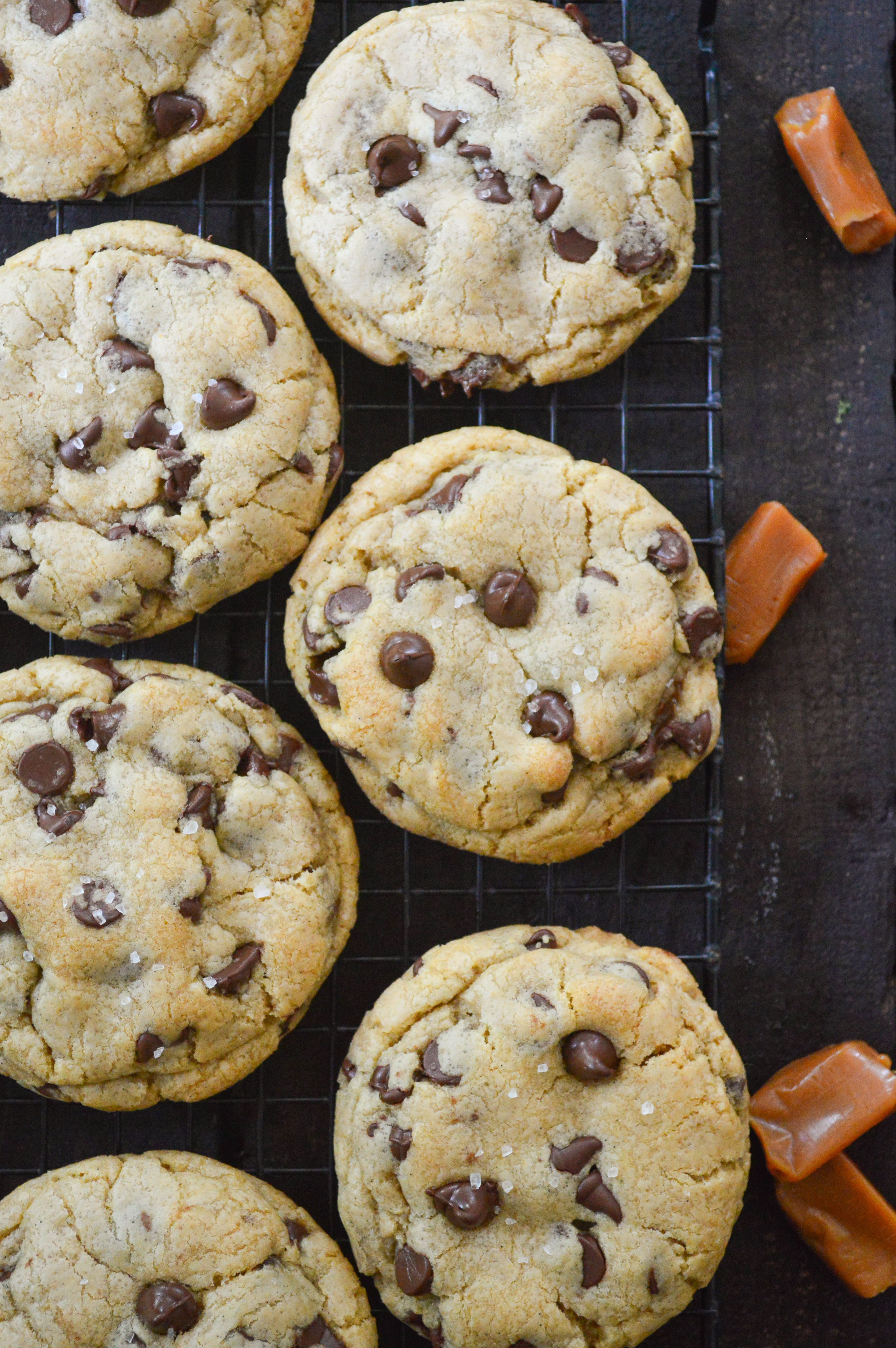 salted caramel chocolate chip cookies-13
