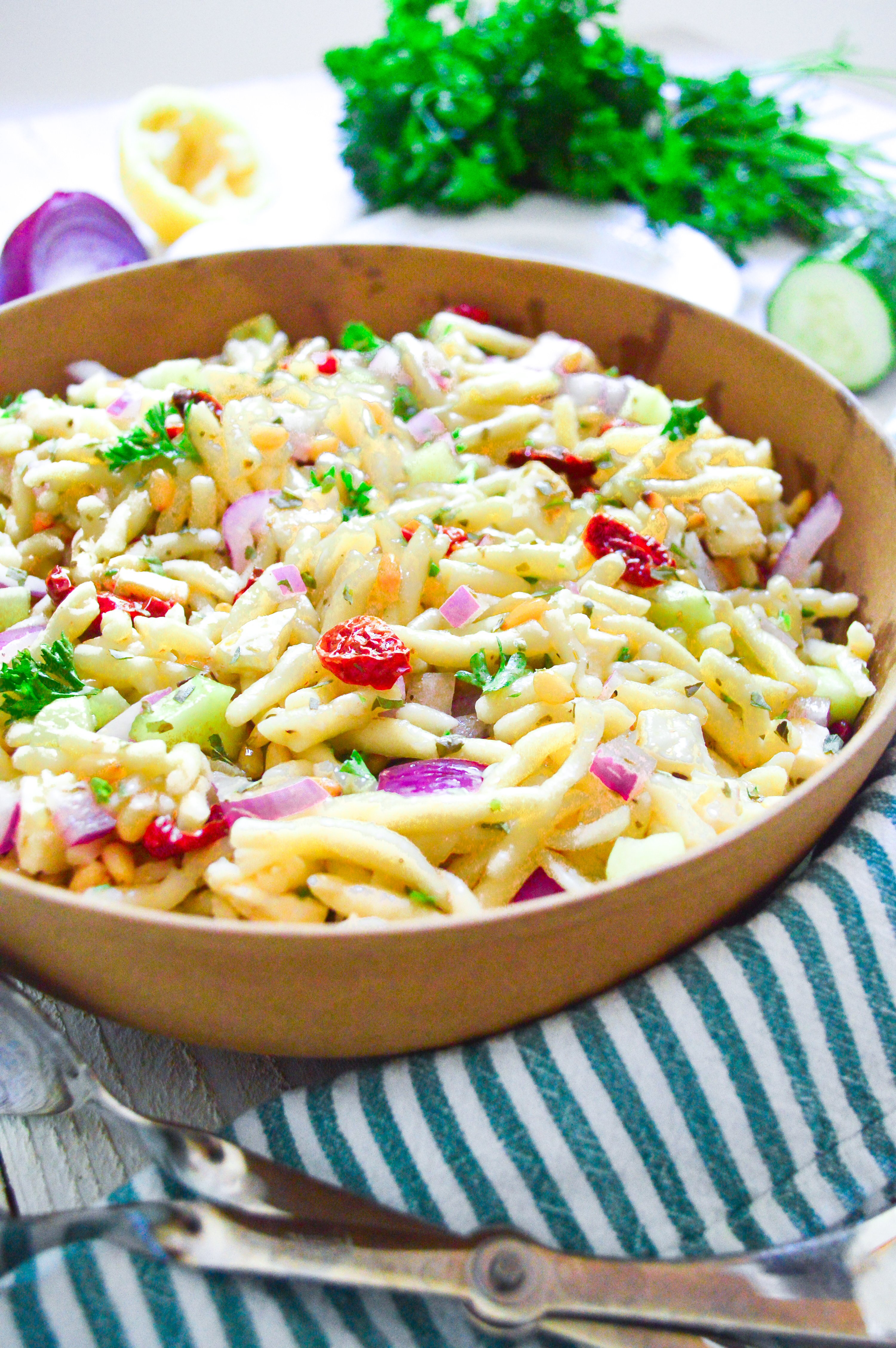 pasta salad with roasted tomatoes-11