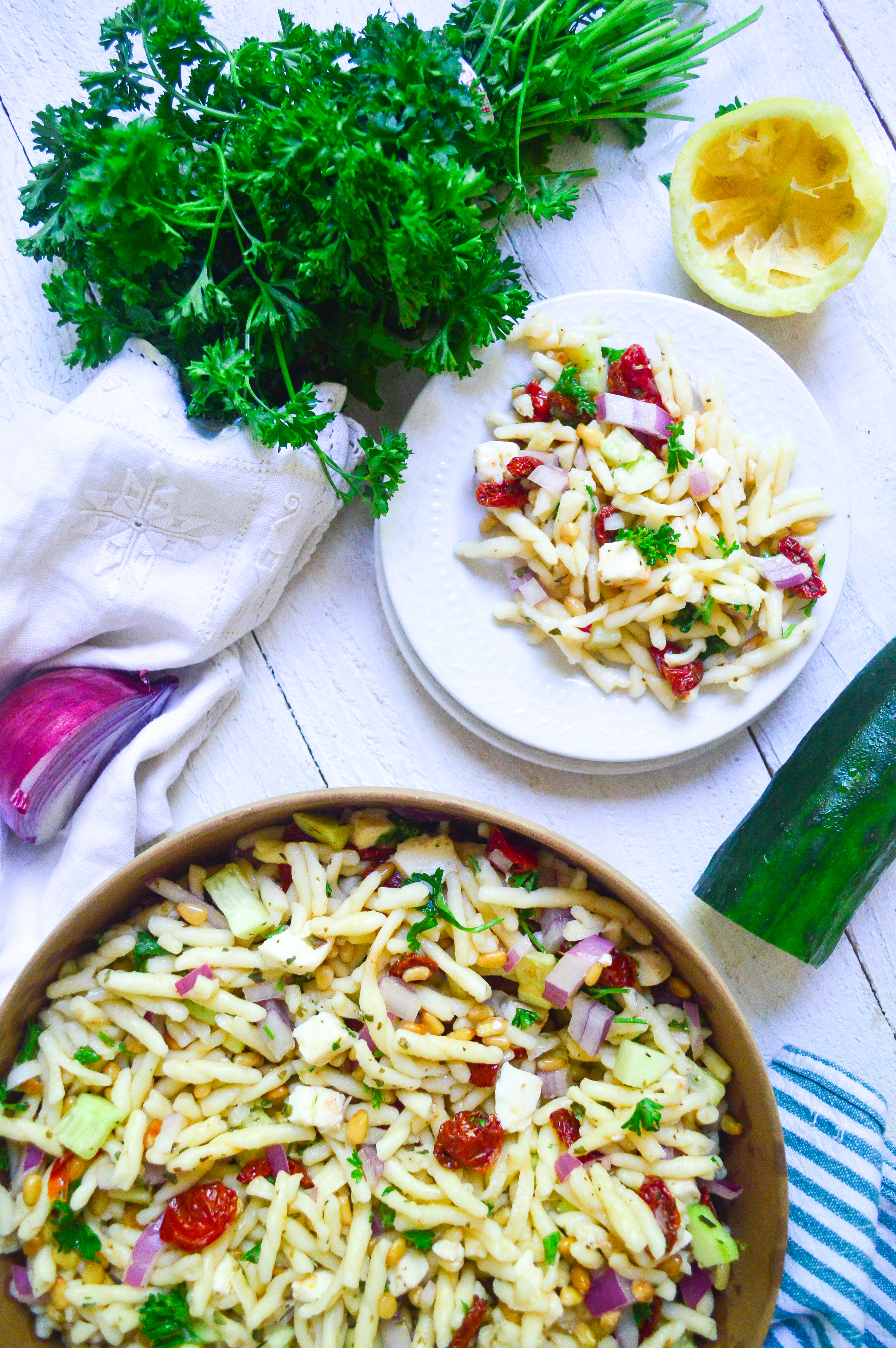 pasta salad with roasted tomatoes-15