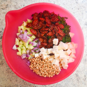 pasta salad with roasted tomatoes-5